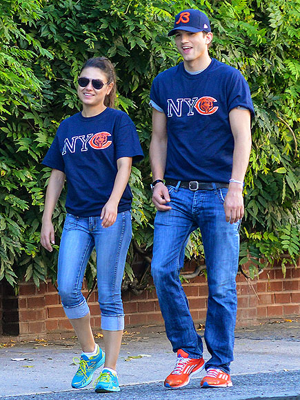 SHIRT TALES photo | Ashton Kutcher, Mila Kunis