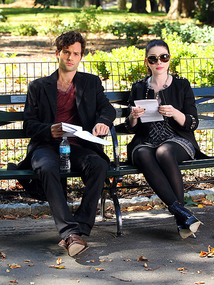 ON THE BENCH photo | Michelle Trachtenberg, Penn Badgley