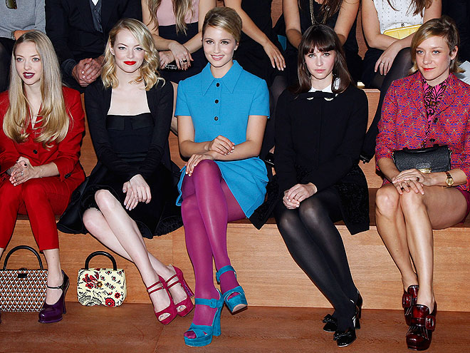 FACES IN THE CROWD photo | Chloe Sevigny, Amanda Seyfried, Dianna Agron, Emma Stone, Felicity Jones