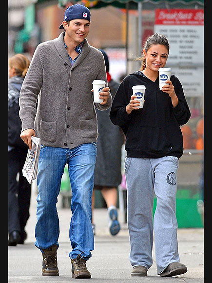DOUBLE SHOT photo | Ashton Kutcher, Mila Kunis