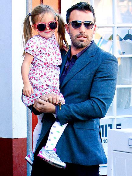 Бен Аффлек с младшей дочерью