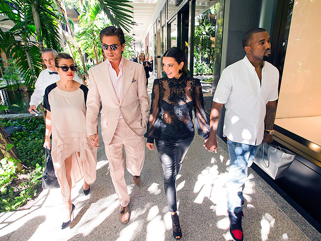 MIAMI MATES photo | Kanye West, Kim Kardashian, Kourtney Kardashian