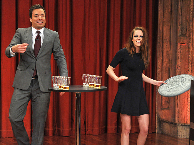 COIN TOSS photo | Jimmy Fallon, Kristen Stewart