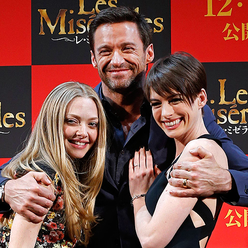 TRIPLE THREAT photo | Amanda Seyfried, Anne Hathaway, Hugh Jackman