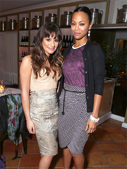 LADIES' NIGHT photo | Lea Michele, Zoe Saldana