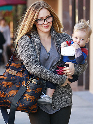 Hilary Duff and Luca - Food for Thought