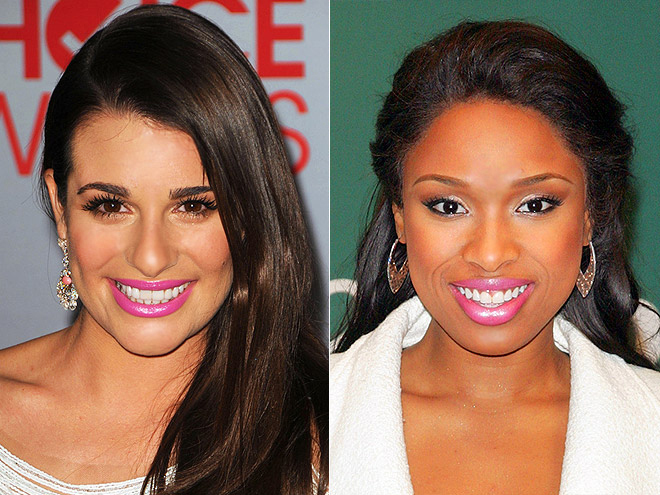 BUBBLE-GUM-PINK POUT photo | Jennifer Hudson, Lea Michele