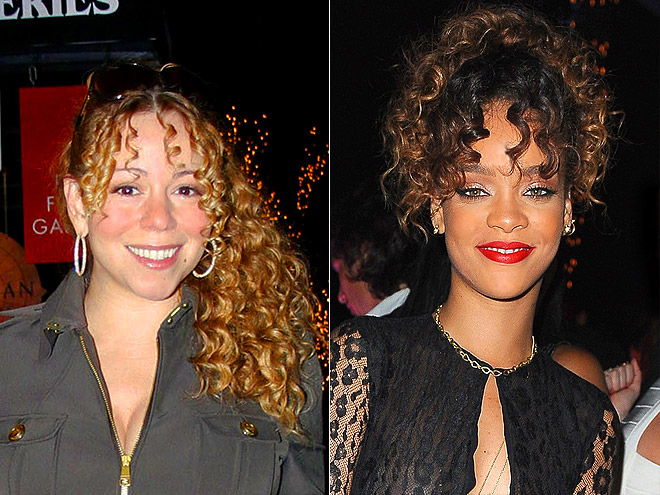 CURLY BANGS photo | Mariah Carey, Rihanna