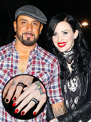 AJ McLean Wedding Ring Photo