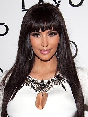 Kim Kardashian Hair, Bangs
