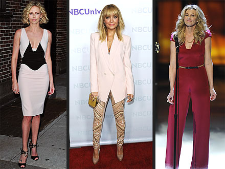 Nicole Richie, Charlize Theron Wear Antonio Berardi