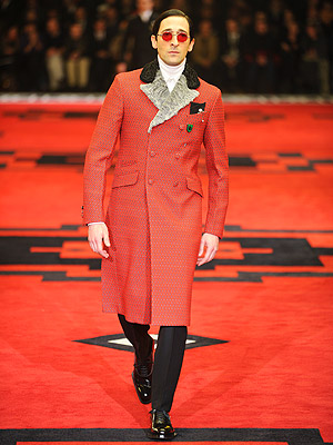 Adrien Brody Prada Fashion Show