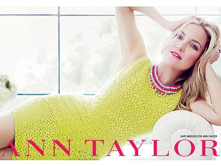 kate hudson 1 440x330 Kate Hudson Glows in Her First Ann Taylor Ads