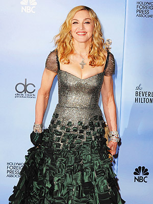 Madonna Golden Globes Fashion