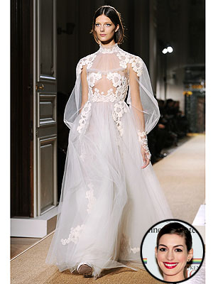 anne hathaway 300x400 Valentino's New Collection: Fit for a Wedding?