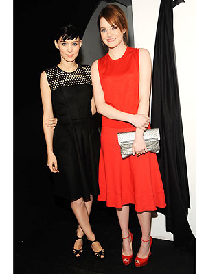 Emma Stone and Rooney Mara