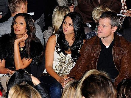 Matt Damon Fashion Week