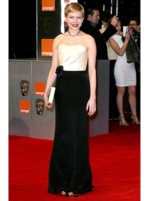 michelle williams 300x400 Michelle Williams Wears H&amp;M to the BAFTAs