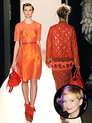 michelle williams 300x400 London Fashion Week So Far: Mulberry, Burberry and Lots of Star Power