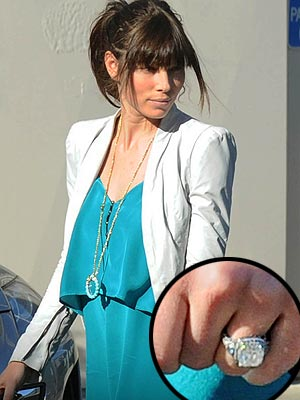 Jessica Biel Engagement Ring Picture