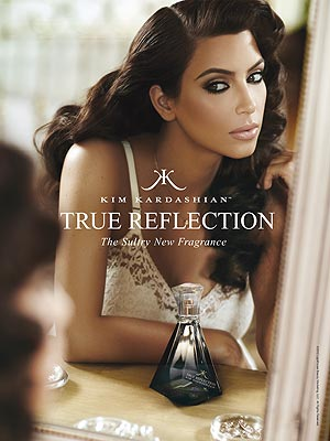 kim kardashian 300x400 PHOTO: Kim Kardashian's New 'True Reflection' Fragrance Ad