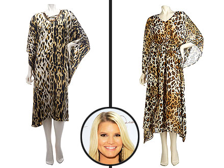 Jessica Simpson Dreams of Giving Birth in Leopard Caftan