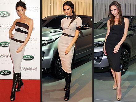 Victoria Beckham Range Rover Event