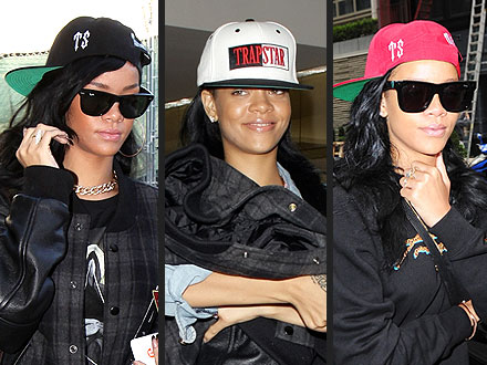 Rihanna Wearing Hats