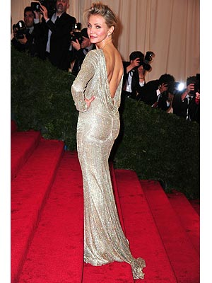 cameron diaz 300x400 Nina Dobrev, Cameron Diaz Dish on Met Gala Dress Difficulties