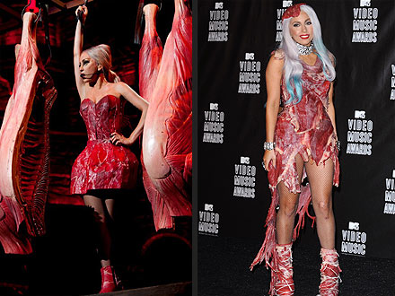 Lady Gaga Meat Dresses