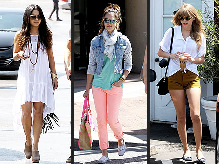 Vanessa Hudgens, Jessica Alba, Taylor Swift
