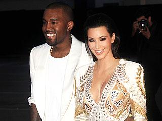 Kim & Kanye Nuzzle at Cannes Beach Party | Kanye West, Kim Kardashian