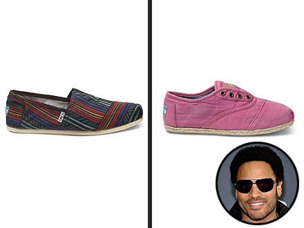 Lenny Kravitz Toms Shoes