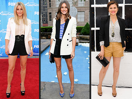 Shorts and Blazers On The Red Carpet