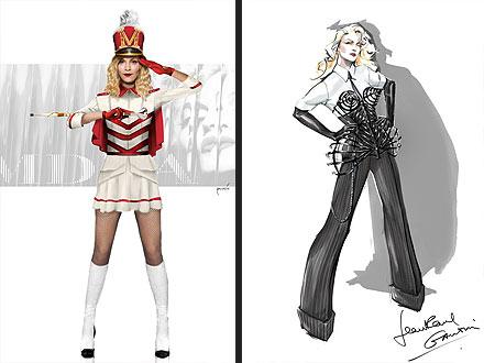 Madonna Costumes MDNA Tour