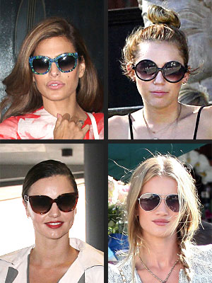 miranda kerr 300x400 Its Official! The Hottest Sunglass Shape Is