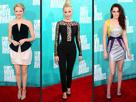 MTV Movie Awards Emma Stone Kristen Stewart
