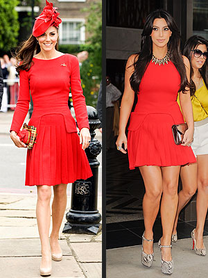 Kate Middleton, Kim Kardashian dress
