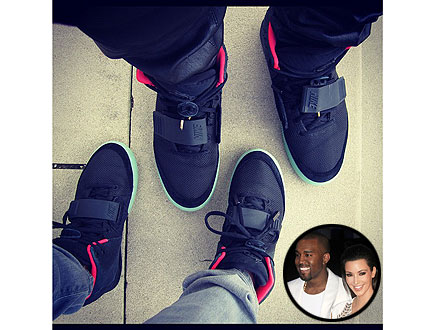 Kim Kardashian Kanye West Air Yeezy II's