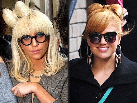 Lady Gaga, Kelly Clarkson Hair
