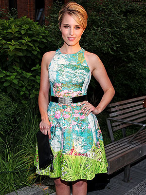 dianna agron 300x400 How to Snag Dianna Agrons Pretty Party Dress