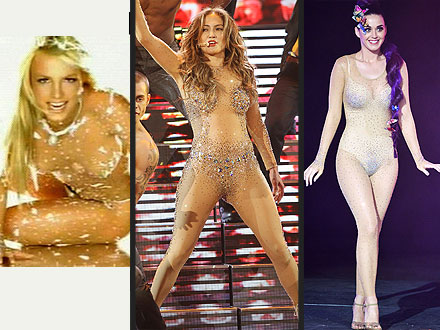 katy perry 440x330 Who Rocked a Sparkly Nude Bodysuit Best?: Britney, J. Lo or Katy?