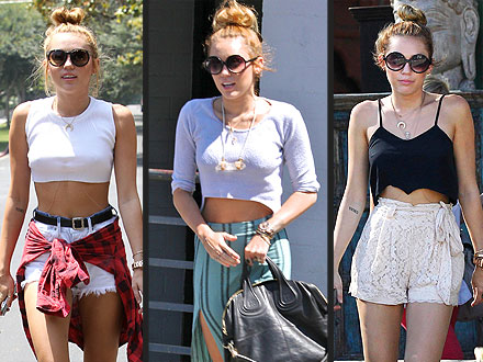 miley cyrus 440x330 Miley Cyruss Midriff Bearing Outfits: So Hot or So Over?