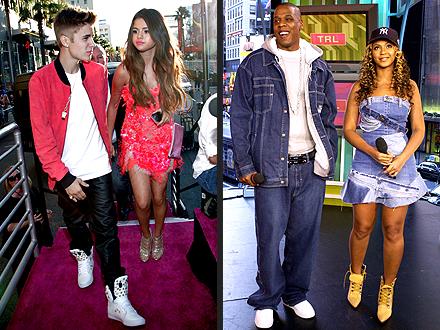 Justin Bieber Selena Gomez Jay-Z Beyonce