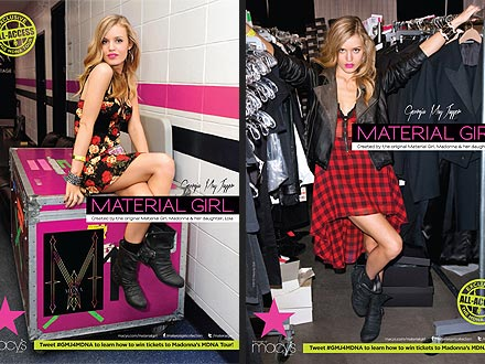"material girl 1 440x330 Exclusive: Georgia May Jagger Gets ""All Access"" In Material Girl Campaign"