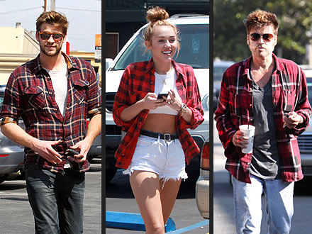 Miley Cyrus Plaid