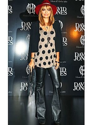 nicole richie 300x400 Are You Loving Nicole Richies Flared Leather Pants?