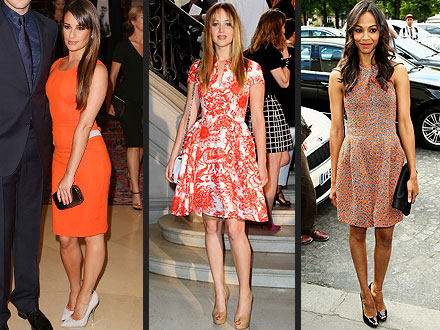 lea michele 440x330 Which Stars Stole The Spotlight At Paris Fashion Week?