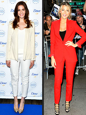 Blake Lively Mandy Moore Suits
