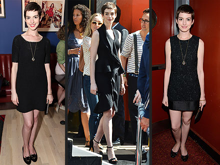 anne hathaway 440x330 Anne Hathaway Really, Really Loves Her LBDs